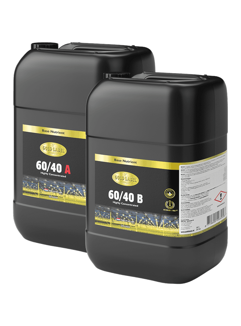 2 black 20 Litre bottles of Gold Label 60/40 A and 60/40 B