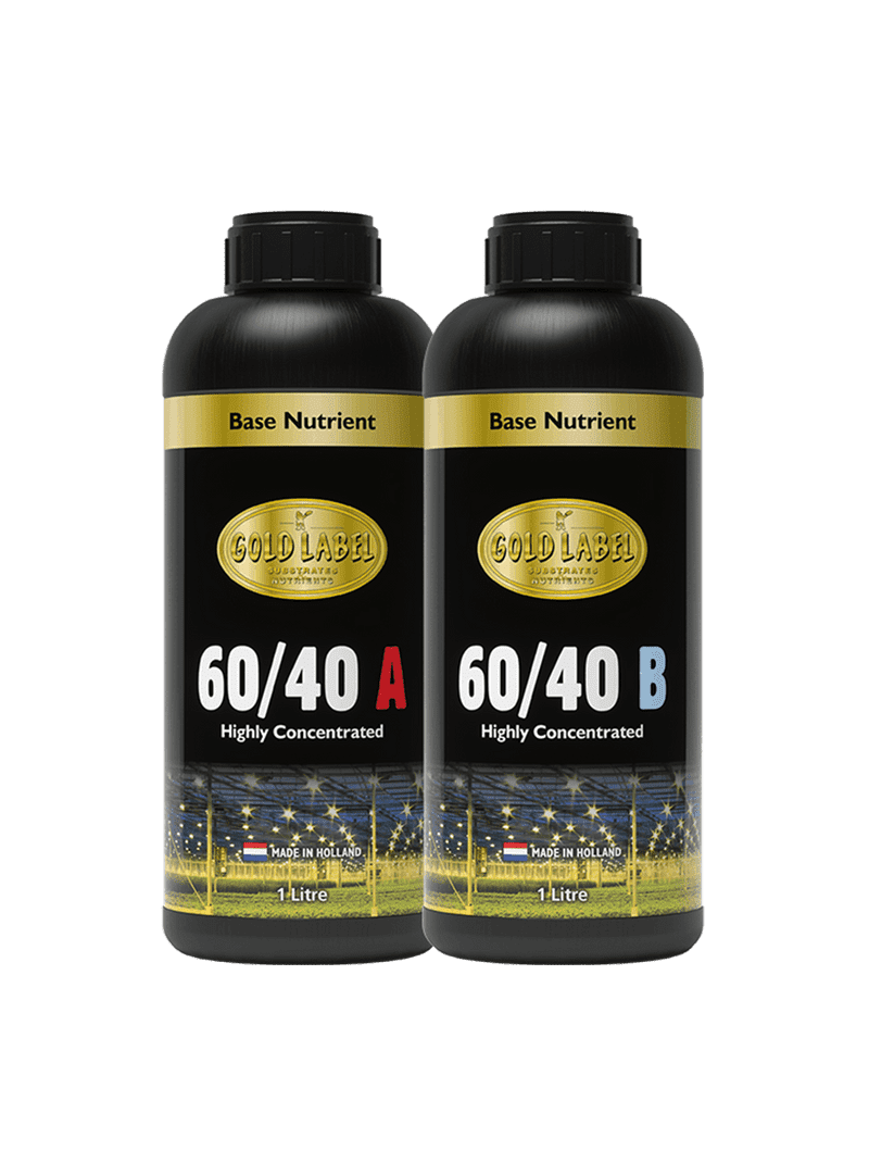 2 black 1 Litre bottles of Gold Label 60/40 A and 60/40 B