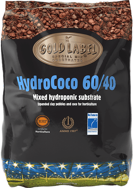 Black bag of Gold Label HydroCoco 60/40 Mixed Hydroponic Substrate
