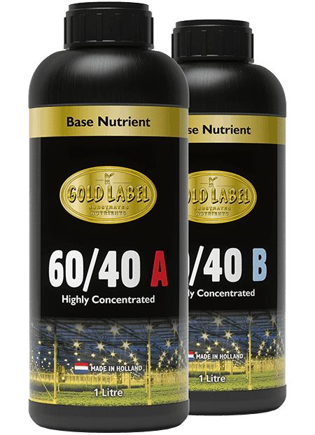 Black Gold Label 60/40 nutrient bottles