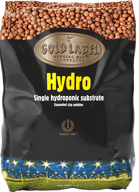 Black bag of Gold Label Hydro Round Pebbles