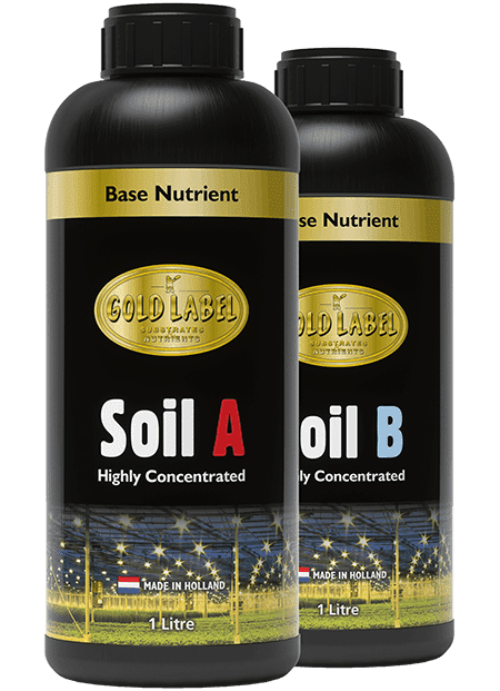 2 bottles of Gold Label Soil A and Soil B