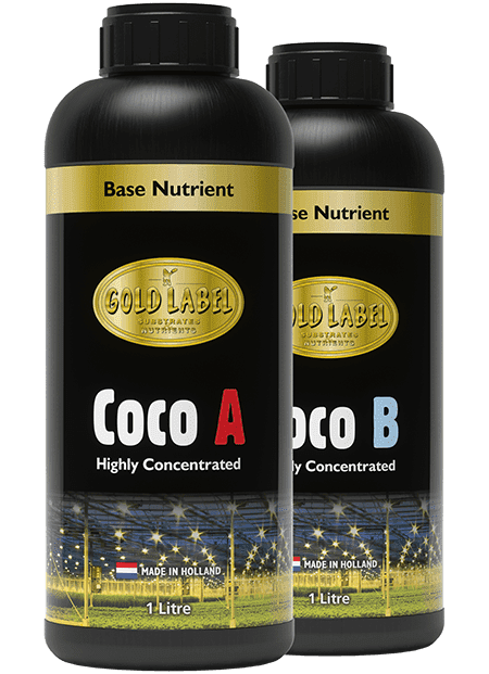 2 black bottles of Gold Label Coco A and Coco B